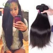 Peruvian Straight Virgin Hair 3pcs Lot Grace Hair Products Peruvian Virgin Hair Bundles 7a Unprocessed Virgin Hair