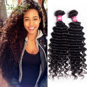 Peruvian Deep Wave Hair Extensions 100% Unprocessed Virgin Peruvian Hair 1Bundle Grade 6A Peruvian Deep Curl Human Hair S0518