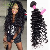 Rosa Hair Company Peruvian Curly Weave 3pcs Lot Peruvian Virgin Curly Hair Bundles Unprocessed Peruvian Deep Wave Human Hair