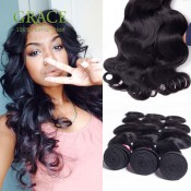 100% Peruvian Body Wave Grace Hair Company 3pcs Lot Peruvian Human Hair Extension Peruvian Virgin Hair Bundles Body Wave