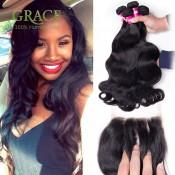 Peruvian Virgin Hair With Closure 4Pcs Lot Queen Weave Beauty Ltd Peruvian Body Wave Peruvian Hair Bundles With Lace Closures