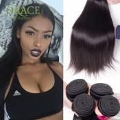 7A Peruvian Virgin Hair Straight 5pcs Lot Natural Black Luvin Hair Products Wholesale Peruvian Straight Hair 100% Human Hair
