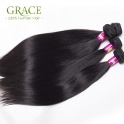 Peruvian Virgin Hair With Closure 5 Pcs/Lot Peruvian Straight Virgin Hair 7a Grade Virgin Unprocessed Human Hair