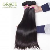 Brazilian Straight Hair With Closure Lace Closure With Bundles 5PCS Lot Brazilian Virgin Hair Straight With Closure Mocha Hair