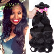 Peruvian Body Wave Queens Hair Company 3PCS Natural Black Virgin Peruvian Hair Bundles 8A Grade Virgin Unprocessed Human Hair