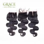 7A Grade Brazilian Virgin Hair Body Wave Brazilian Body Wave Closure 3 Bundles Human Hair Bundles With Lace Closure