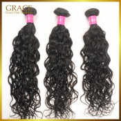 Rosa Hair Products Indian Natural Wave 3pcs/Lot 100% Virgin Hair Indian Wet And Wavy 6A Virgin Indian Natural Wave Hair Bundles