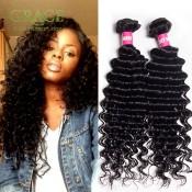 Grade 7A Indian Virgin Hair Deep Wave 3 Pcs Lot Indian Curly Hair Extensions 100% Virgin Indian Deep Wave Curly Hair S0518