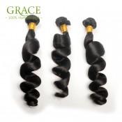 Brazilian Loose Wave Virgin Hair 3 Bundles Brazilian Hair Loose Wave 7A Unprocessed Virgin Brazilian Loose Curly Wave