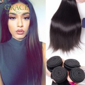 Malaysian Virgin Hair Straight 3pcs Lot Grace Hair Product Natural Black Malaysian Hair 7A Malaysian Straight Human Hair Bundles