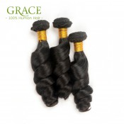 Grace Hair Company Peruvian Loose Curly Hair 4Pcs Lot Unprocessed Peruvian Loose Wave Bundles Hot Sale Peruvian Virgin Hair