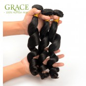 7A Loose Wave Brazilian Virgin Hair 3pcs/lot Unprocessed Brazilian Hair Loose Wave Rosa Hair Products Loose Curly Virgin Hair
