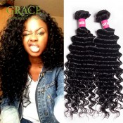 Brazilian Curly Hair Weave Bundles Mario Hair 3pcs Lot 7A Curly Brazilian Hair Extensions Natural Black Brazilian Deep Wave