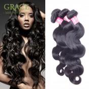 Ali Moda Hair Malaysian Body Wave 100% Unprocessed Natural Black 7A Grade Malaysian Hair Malaysian Virgin Hair 4 Bundles