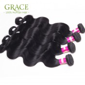 Natural Black Kbl Hair Malaysian Body Wave 4pcs Lot 7A Virgin Malaysian Hair Bundles Malaysian Virgin Hair Weave Body Wave