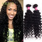 Rosa Hair Brazilian Deep Wave Human Hair Extension 2pcs Lot Brazilian Curly Virgin Hair Unprocessed Brazilian Curly Hair Weave