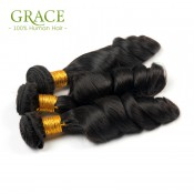 Grace Hair Company Brazilian Loose Curly Virgin Hair 4Pcs Lot Unprocessed Brazilian Loose Wave Hot Sale Spanish Wave Weaves