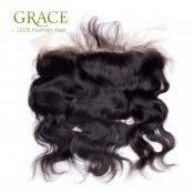 100% Virgin Peruvian Body Wave Lace frontal Closure 13X4 with Baby Hair Ear To Ear Free Part Lace Frontal Closure Julia Hair