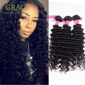Peruvian Deep Wave 4Bundles Unice Hair Products Virgin Peruvian Deep Curly Hair Unprocessed Peruvian Curly Hair Weaving