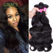 Unprocessed Virgin Peruvian Hair Body Wave Grace Hair 4 Bundles 7A Peruvian Virgin Hair Wholesale Peruvian Hair Body Wave