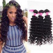 3Bundles Queen Beauty Hair Peruvian Deep Wave Virgin Hair 100% Unprocessed Peruvian Deep Curly Virgin Hair Fast Free Ship