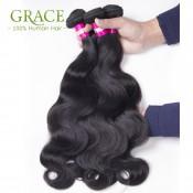 Brazilian Virgin Hair Body Wave 5PCS 3.5OZ/Bundle Grace Hair Company 7A Brazilian Body Wave Human Hair Extensions Natural Wave