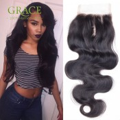 Free/Middle/3Part Malaysian Closure Body Wave 7a Swiss Lace Malaysian Lace Closure Rosa Hair Product Malaysian Body Wave Closure