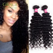 Queen Hair Products 1Pc/Lot Brazilian Deep Wave Virgin Hair 100% Unprocessed 6A Grade Brazilian Deep Curly Virgin Hair S0518
