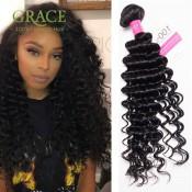 Grace Hair Products Malaysian Deep Curly Virgin Hair 4 Bundles Malaysian Virgin Hair 6A Natural Color Malaysian Deep Wave