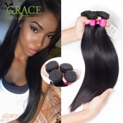 Grade 7A Unprocessed 100% Human Hair Peruvian Straight Virgin Hair 3pcs/lot Premium Now Peruvian Virgin Hair Straight