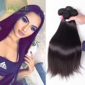Grace Hair Brazilian Straight Hair 7A Unprocessed Virgin Brazilian Hair 2 Pcs/Lot Virgin Brazilian Straight Hair Fast Shipping