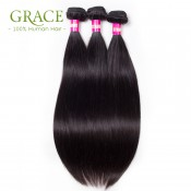 Grace Hair Peruvian Straight Virgin Hair 3pcs Lot 100% Unprocessed Peruvian Straight Hair Bundles Peruvian Virgin Straight Hair
