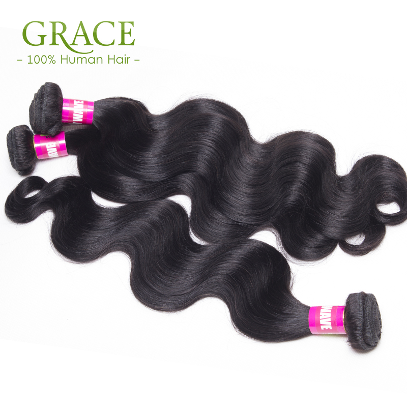 Queen Hair Brazilian Body Wave 7A Grade Natural Black 4PCS/Lot Virgin Brazilian Hair Bundles Brazillian Virgin Hair Body Wave