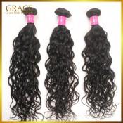 柬埔寨自然的波浪原頭髮女王頭髮6A便宜柬埔寨發3件/很多濕和波浪處女柬埔寨人權原頭髮
