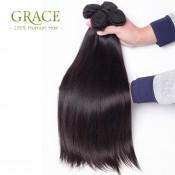 Hot Selling Malaysian Virgin Hair With Closure Straight 3 Bundles With Closure Malaysian Human Hair With Closure Natural Black