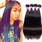 Peruvian Virgin Hair Grade 7A Peruvian Virgin Hair Straight 5 Pcs/Lot Peruvian Straight Virgin Hair extension Free Shipping