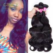 Hot Selling Brazilian Body Wave Mocha Hair Company 3PCS Lot 7A Brazilian Human Hair Natural Color 300g Brazilian Virgin Hair
