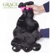 Rosa Hair Products 7A Brazilian Virgin Hair Bundles Natural Black Brazilian Body Wave 4pcs Lot  Virgin Brazilian Hair Weaves
