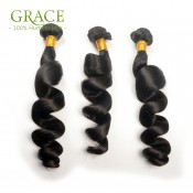 Hot Selling Unprocessed 10A Malaysian Loose Wave 4 Pcs Lot Malaysian Virgin Hair Loose Wave Grace Hair Products Loose Curly