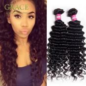 Queen Weave Beauty Malaysian Deep Wave Human Hair 4pcs Lot Malaysian Deep Curly Virgin Hair Bundles Malaysian Curly Hair Weave
