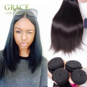 8A Grade Virgin Unprocessed Human Hair Peruvian Straight Julia Hair Products Unprocessed Peruvian Straight Hair 3PCS Lot