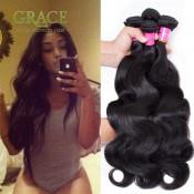 Queen Weave Beauty Brazilian Body Wave 4pcs Lot Unprocessed Brazilian Virgin Hair Body Wave Natural Black Brazilian Hair Weave