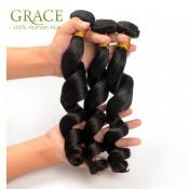 3PCS/LOT Brazilian Virgin Hair Loose Wave Grade 7A Mocha Loose Wave Brazilian Hair Brazilian Loose Wave Free shipping