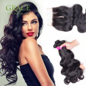 4 Bundles With Closure Brazilian Body Wave With Closure Queen Weave Beauty Ltd Brazilian Virgin Hair With Closure