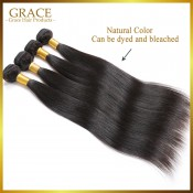 3 Pcs/Lot Indian Virgin Straight Hair Grade 7A Indian Straight Hair Unprocessed Human Hair Bundles In Stock No Tangle
