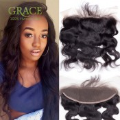 Lace Frontal Closure Malaysian Body Wave Full Frontal Lace Closure 13X4 Ear To Ear Lace Frontals With Baby Hair Bleached Knots