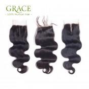 Grade 7A Peruvian Body Wave Lace Closure With Hair Bundles 4pcs Lot Virgin Peruvian Human Hair With Closure Iwish Hair Products