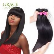 7A Unprocessed Virgin Brazilian Straight Hair Brazilian Virgin Hair 4 Bundles Natural Black Brazilian Virgin Hair Straight