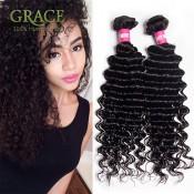 7A Grade Brazilian Curly Virgin Hair 3bundle Deals Deep Wave Brazilian Hair Sexy Formula Hair Brazilian Curly Hair Weave