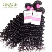Brazilian Curly Virgin Hair 4Pcs/Lot Ali Queen Hair Unprocessed Human Hair Weave Bundles Brazilian Deep Wave Virgin Hair